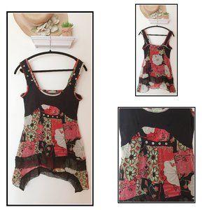 Boho Sleeveless Flowered Dress by Dolcezza